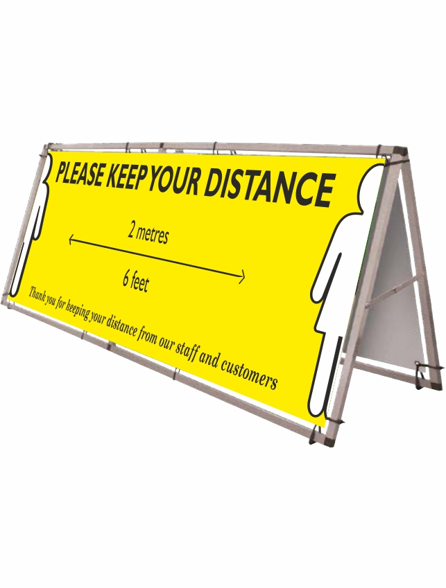 Banners & Banner Frames for Social Distancing. Providing information to your customers and staff to help them protect each other during the coronavirus outbreak