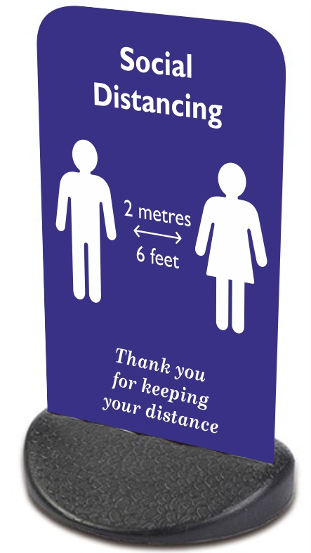 Pavement Signs | Social Distancing 2 Metres (6 Feet)