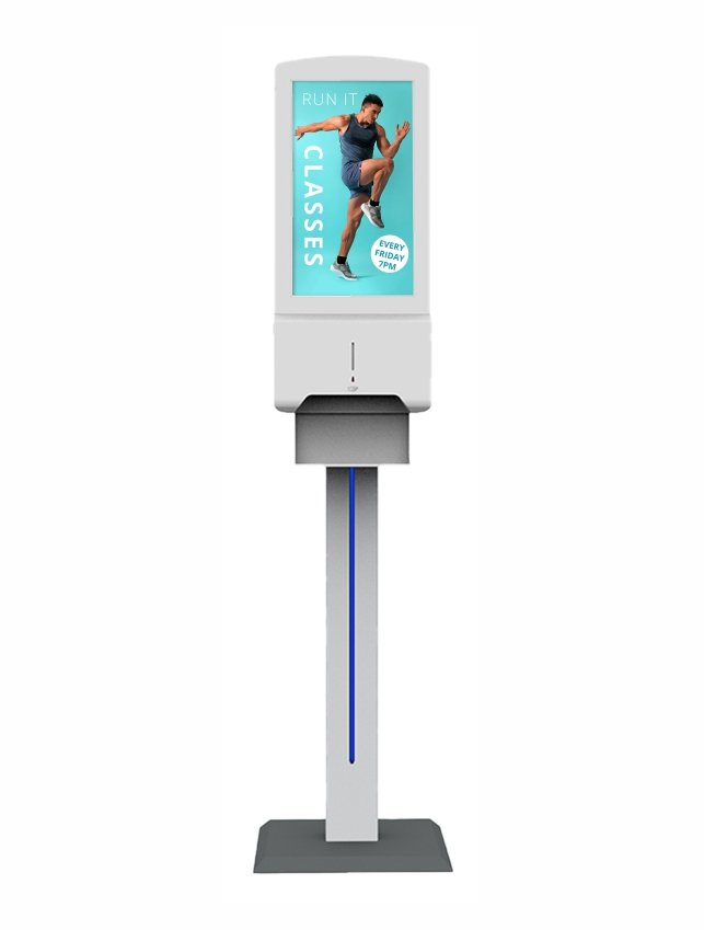 PPS - Contactless Wall Hand Sanitsing Freestanding Unit with Digital Display