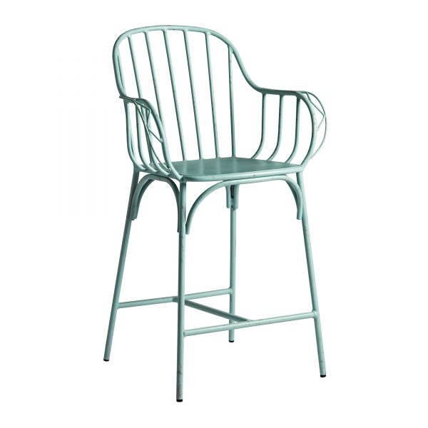 Aluminium bar stool Retro aluminium bar stool with rustic appeal. Available in a range of neutral colours. Absolutely will not rust!