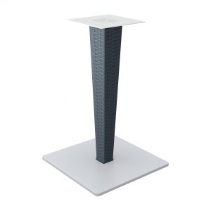 Riva Table Base 890 Dark Grey - Rattan leg and painted aluminium base. Can be disassembled if required. Primarily for outdoor use but can also be used indoors.