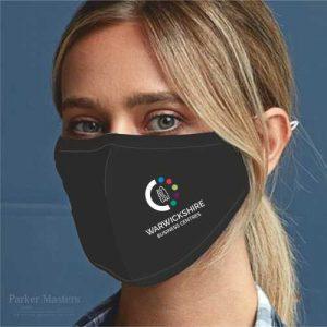 Black Face Mask 3 Layered Fabric - Printed