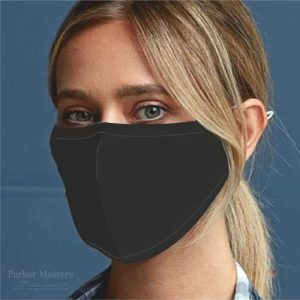 Black Face Mask 3 Layered Fabric - Un Branded