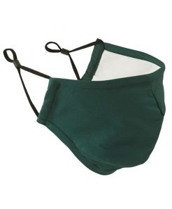 Bottle Green Face Mask 3 Layered Fabric - Premier Workwear