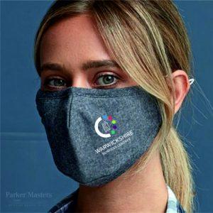 Indigo Face Mask 3 Layered Fabric - Printed