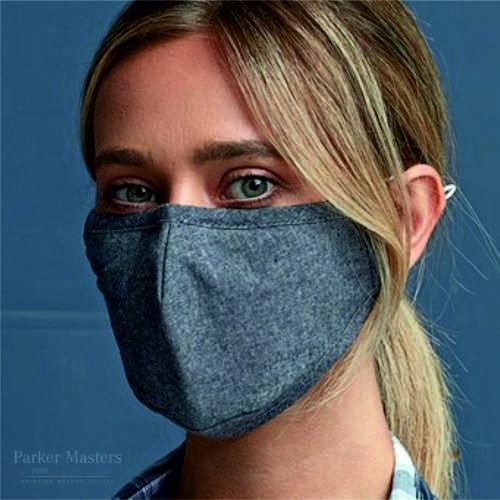 Indigo Face Mask 3 Layered Fabric - Un-Branded