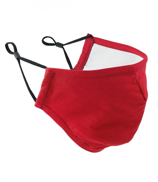 Red Face Mask 3 Layered Fabric - Premier Workwear
