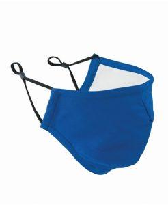 Royal Blue Face Mask 3 Layered Fabric - Premier Workwear