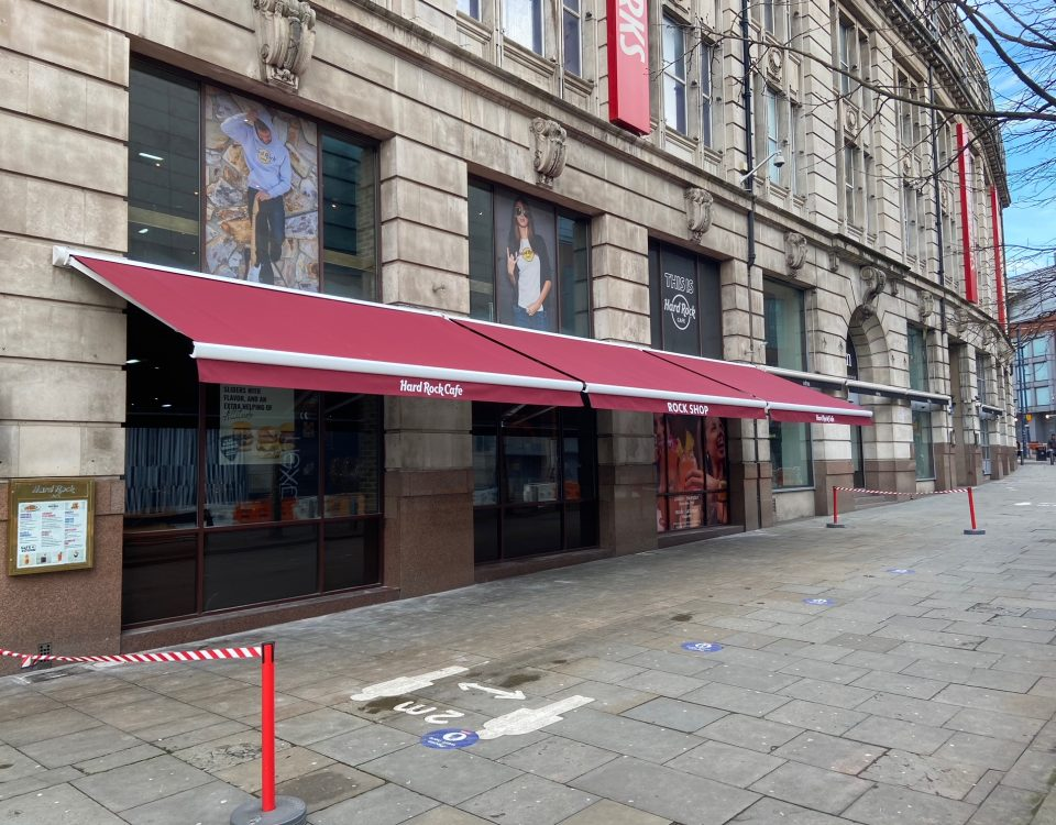 Hard Rock Cafe Awnings - Manchester