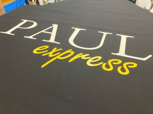 Branded canopy fabric for re-covering