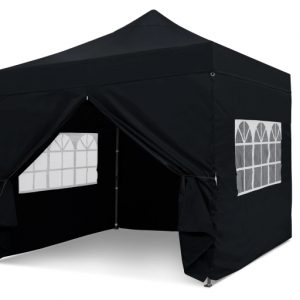 Black 3m x 3m Pop-uo Gazebo - No Print