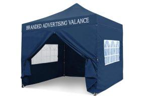 Blue 3m x 3m Pop-uo Gazebo - Printed Valance